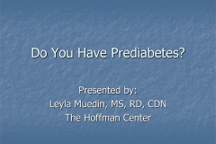 Do You Have Prediabetes?