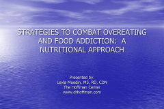 Strategies to Combat Overeating