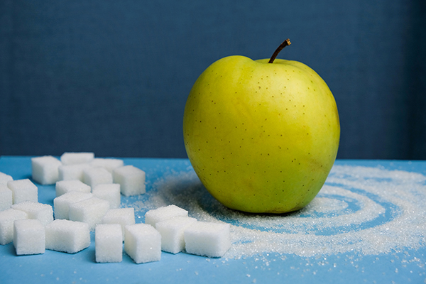 What's the difference in how fructose and sucrose impact physiology?
